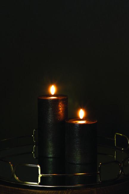 UYUNI led kynttilä 8×15 , musta