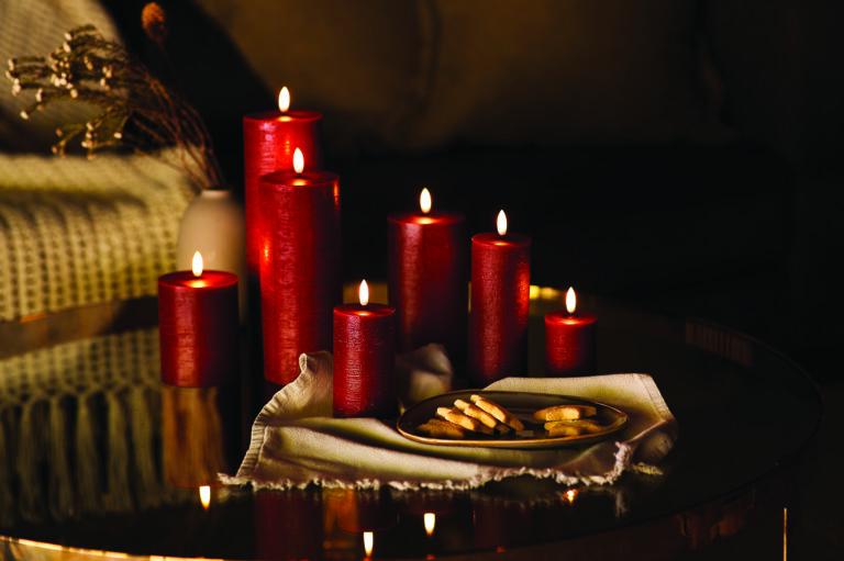 UYUNI led kynttilä 8×15 , punainen