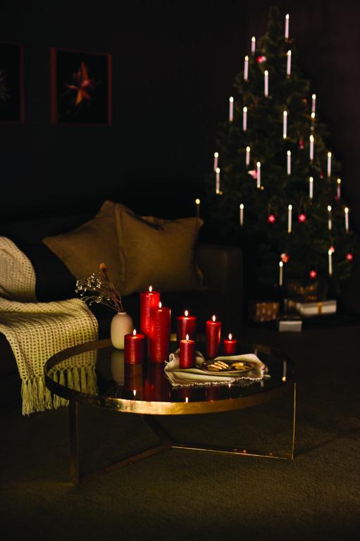 UYUNI led kynttilä 8×20 , punainen