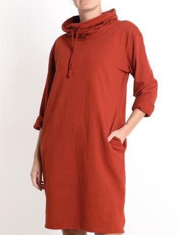 College mekko/tunika, poltettu oranssi